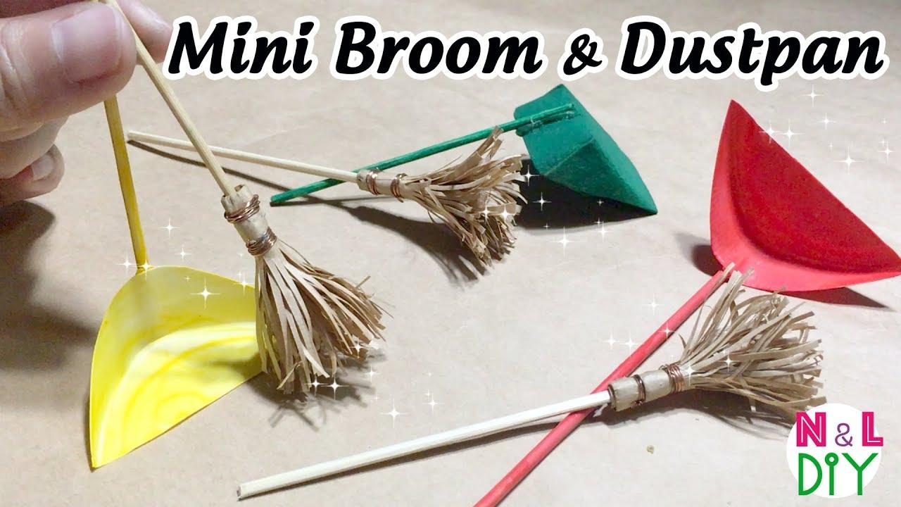 Diy Miniature Broom Amp Dustpan For Dollhouse How To Make