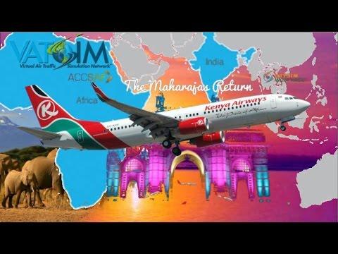 PMDG 737 Flies Nairobi, Kenya To Mumbai, India On Vatsim