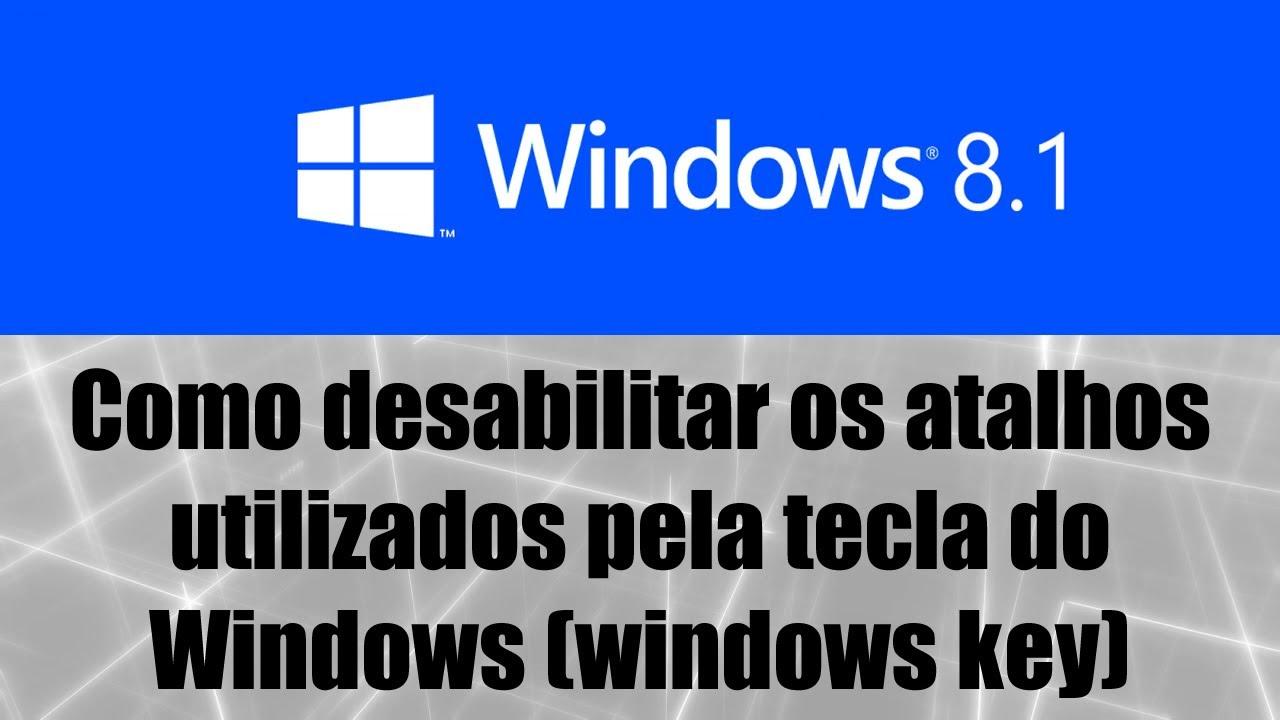 Notebook samsung desativar tecla fn - Windows 8 1 Como Desabilitar Os Atalhos Utilizados Pela Tecla Do Windows Windows Key
