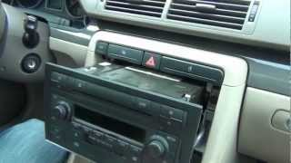 Audi A4 2002-2005 install of iPhone, iPod and AUX adapter for Symphony stereo.avi