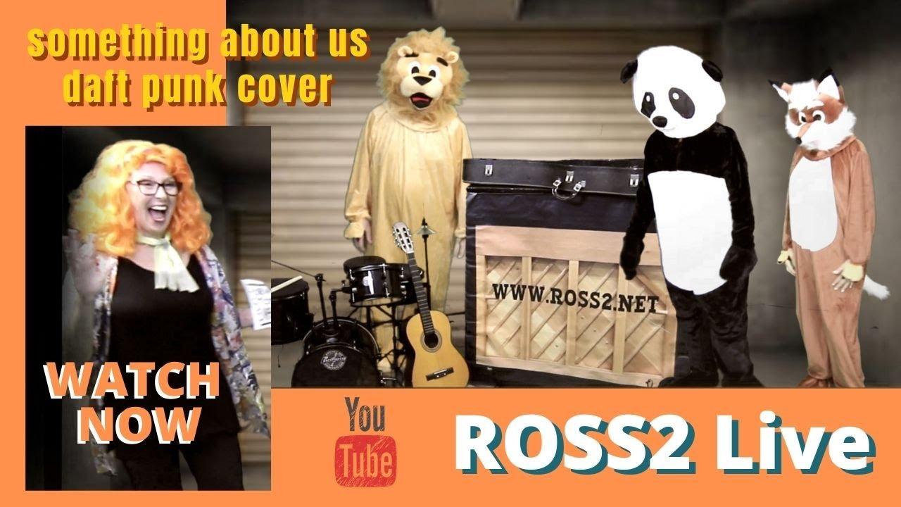 Something About Us (Cover) by ROSS2 Live with lyrics
