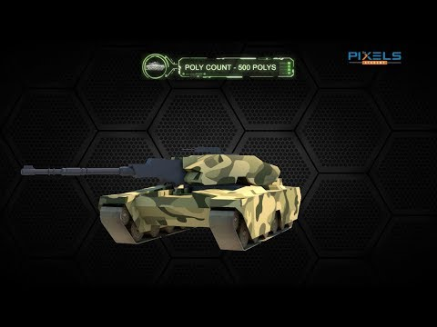 Game Design ( Modelling ) LowPoly Tank Model By student G Sumanth