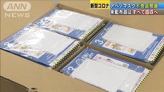 """未配布の""""アベノマスク""""回収へ 納入企業が発表(20/04/24)"""