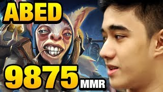 Abed Meepo GOD 9875 mmr TOP 1 In the WORLD - Road To 10k Dota2