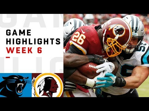 Panthers vs. Redskins Week 6 Highlights | NFL 2018