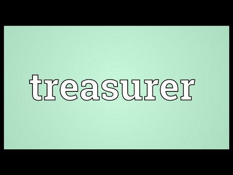 Treasurer Meaning