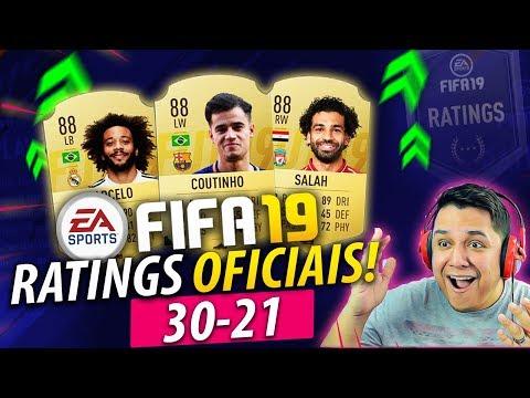 FIFA 19 Ratings OFICIAIS!! Marcelo tá um MONSTRO!!!! 30-21 🔥🇧🇷
