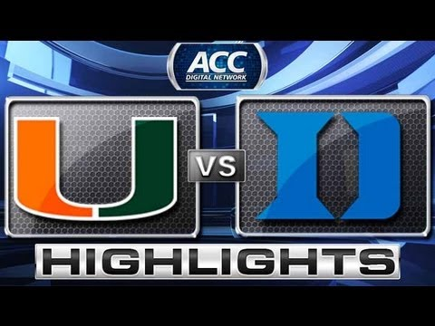 Miami vs Duke Basketball Highlights 3/2/13