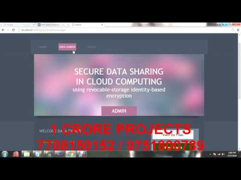 Secure Data Sharing in Cloud Computing Using Revocable Storage Identity Based Encryption
