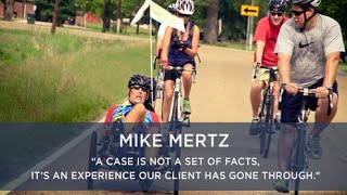 "Hurley McKenna & Mertz, P.C. Video - Mike Mertz - ""A case is not a set of facts, it's an experience our client has gone through."""