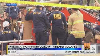 Investigating firms involved with deadly Brier Creek trench collapse