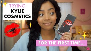 TRYING KYLIE COSMETICS FOR THE FIRST TIME