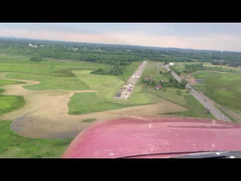 Airplane landing at Plum Island
