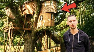 OUR LUXURY TREEHOUSE TOUR | LIVING IN A TREE 🌳🏠