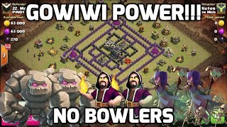 "Clash of Clans: 3 STAR ""4 CORNERS"" WITH GOWIWI (NO BOWLERS)- WORKS EVERY TIME! 