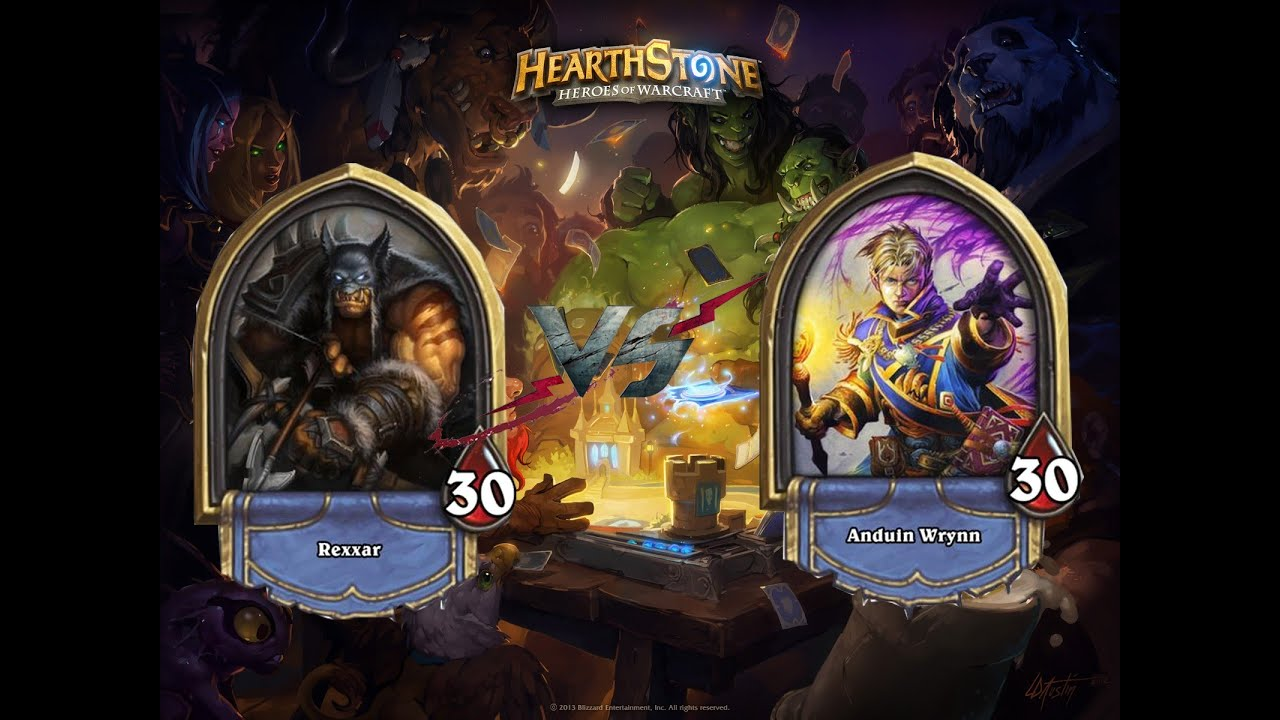 Hearthstone match loading screen