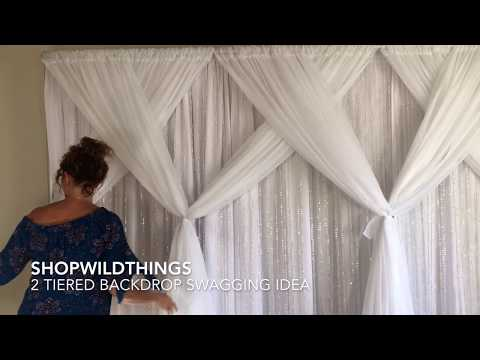 ShopWildThings Free Video How to Swag Pipe and Drape Fabric