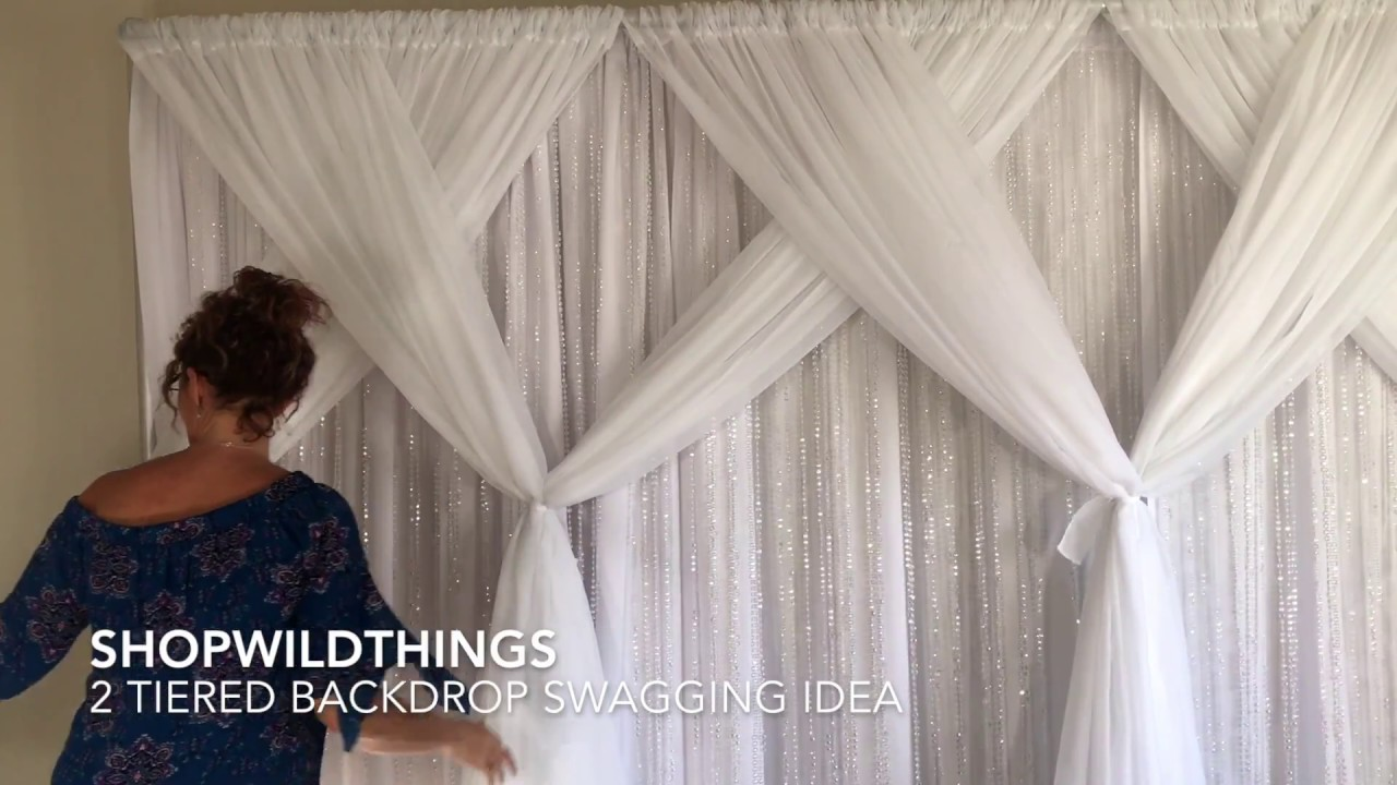 ShopWildThings Free Video How to Swag Pipe and Drape ... on Draping Curtains Ideas  id=96197