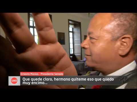 Top Secret  Macías se mostró prevenido ante las cámaras de Noticias Uno