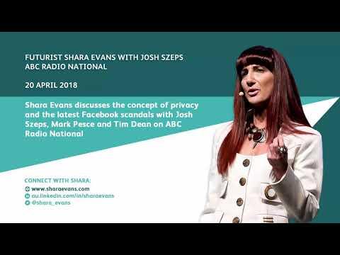 Shara Evans on ABC Radio National: People v Privacy