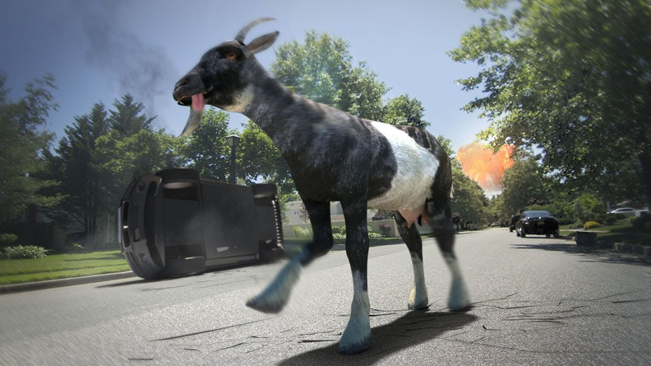 Image result for Cool Stuff – Goat Simulator – Random Live Action Rampage Video