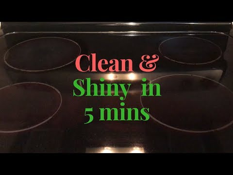 How to clean glass stove top    Glass Cook Top Cleaning   Clean cook top in 5 mins using baking soda