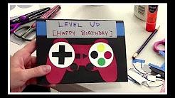 DIY Homemade Birthday Card - Gamer Edition!
