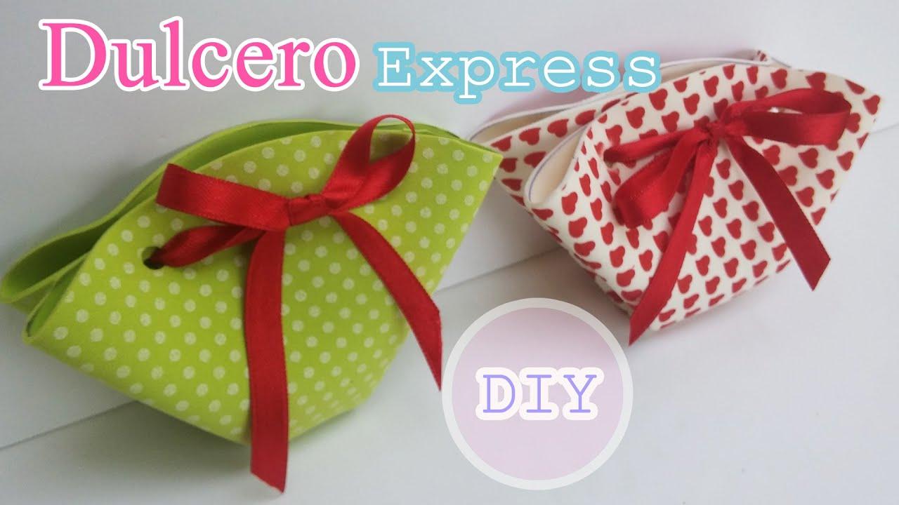 Manualidades Express para regalar  Dulcero de goma eva