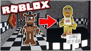 Déverrouillage RP Animatronics dans Freddy Fazblock Pizza Roleplay! Cinq nuits au Roblox de Freddy
