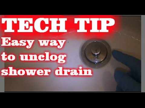 EASY WAY TO UNCLOG TUB DRAIN   YouTube