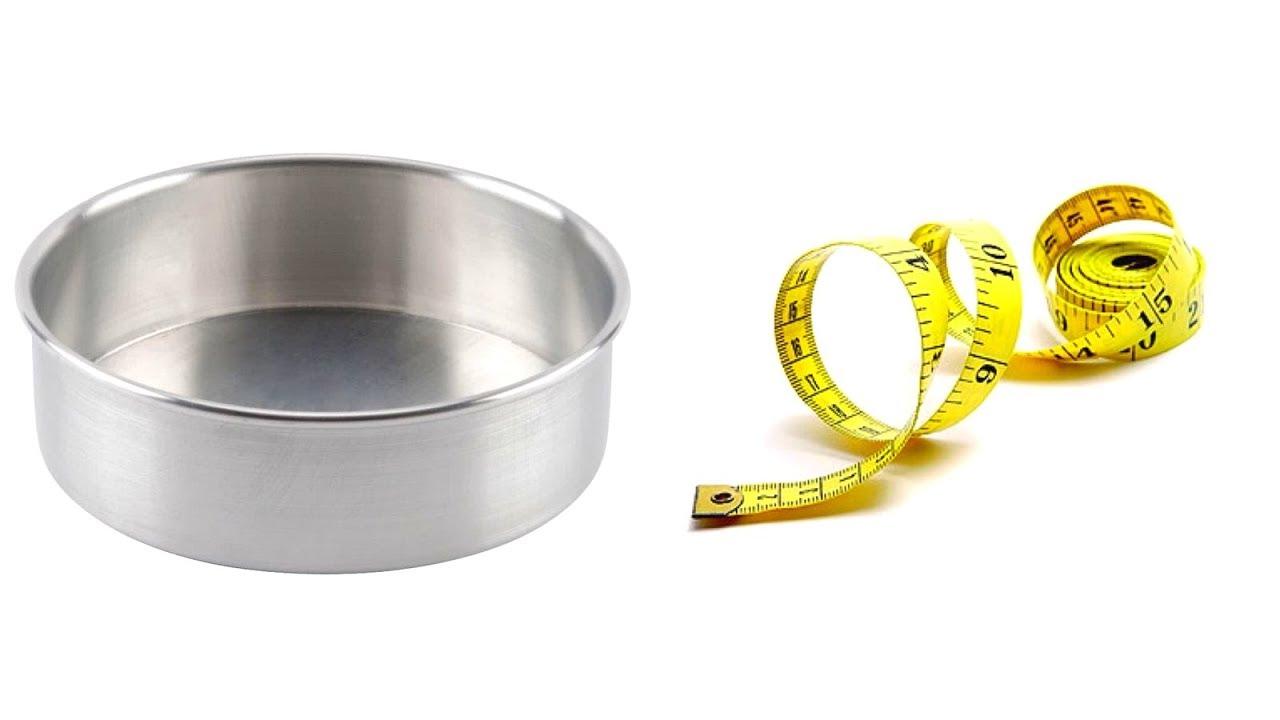 8e25c7ec1 طريقة سهلة جدا لمعرفة قياس صواني خبز الكيك او اي صينية لديكي ...