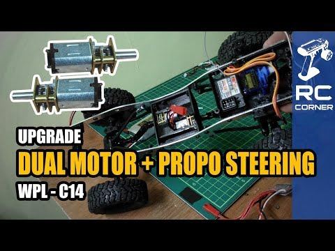 WPL C14 - Upgrade with Dual Motor N20 and Propo Steering | RC offroad adventure