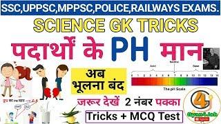 Ph man trick   pH value of important Substance  Ph man Science gk tricks  पीएच मान ट्रिक.