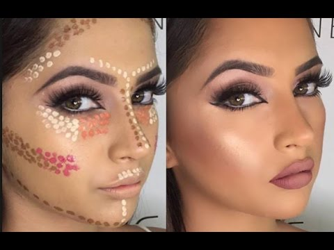 simple makeup tutorial contouring ☘ did my makeup in high