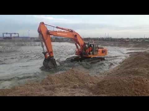 Tata Hitachi EX 350 LGP Kamarajar Port Video 3