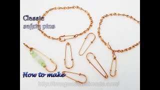 Classic safety pins -The simple way to create jewelry sets with the same motifs 511