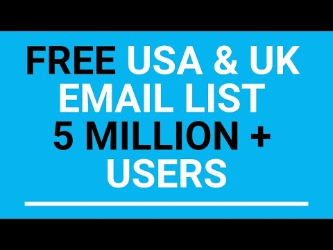Get Free USA & UK Active Email List   BrownGuyChannel