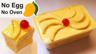 Easy Mango Dessert Recipe | No Bake Mango Cake