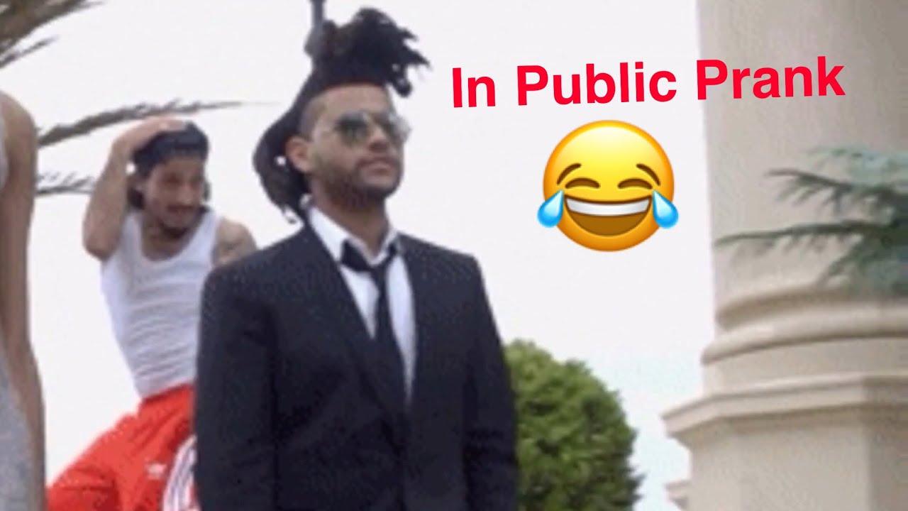 Prank public facial