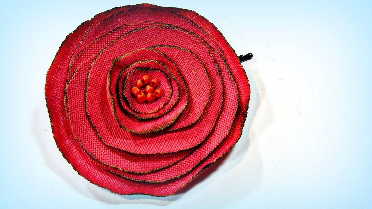 Cómo hacer rosas de tela. How to make fabric roses. - YouTube