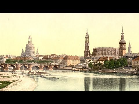 Dresden in around 1900 (Colour, HD)