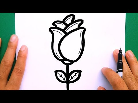 How to draw a rose, draw cute things