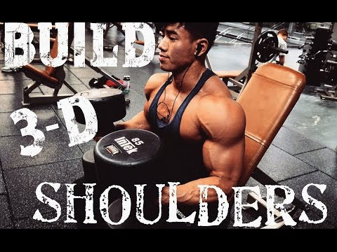 BUILDING 3-D SHOULDERS W/ STEVEN CAO| PHYSIQUE UPDATE 5 WEEKS OUT| FULL DAY OF EATING ON REFEED DAY