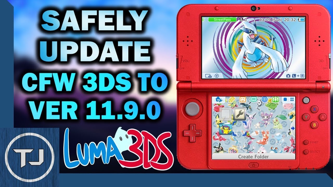 How To Safely Update CFW 3DS To 11 9 0 (SysNAND Backup)