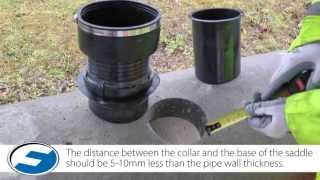 Make a lateral pipe connection with the Flexseal FA Saddle