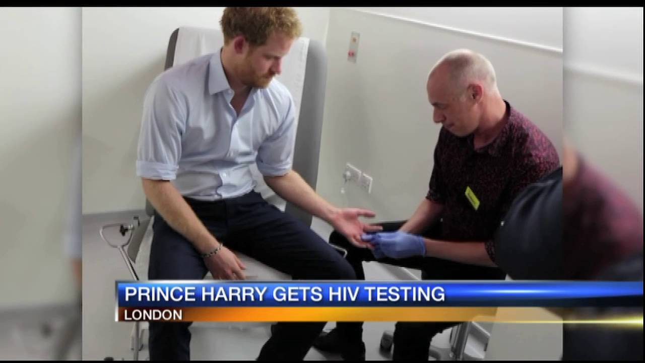 Prince Harry gets tested for HIV