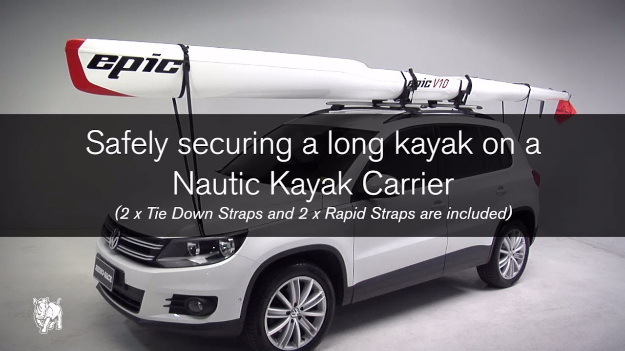Rhino Rack | How To Tie Your Kayak Safely To Roof Racks   YouTube