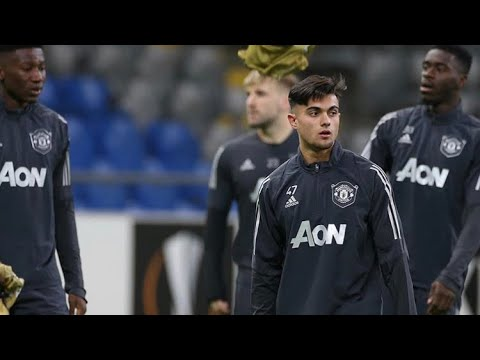 Manchester United training session ahead of Astana in the Europa League clash