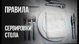 Сервировка стола, уроки. Как правильно сервировать стол?! Обучение официантов, менеджеров ...