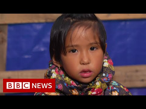 Lesbos migrant camp children 'say they want to die' - BBC News